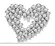 La gente & cuore Fotografie Stock Libere da Diritti
