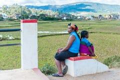 La gente a ANTANANARIVO, MADAGASCAR Fotografia Stock Libera da Diritti