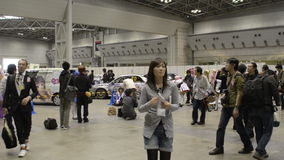 La gente assiste al partito di sogno di Tokyo, ad una convenzione di Manga Cosplay e di anime stock footage