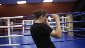 La gente, atleta, risolvere, palestra, forma fisica, combattimento e sport estremi Uomo caucasico che si esercita nella palestra  stock footage