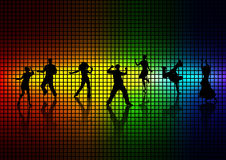 La gente balla una discoteca. Fotografie Stock