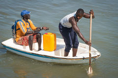 La gente a BANJUL, GAMBIA Fotografia Stock Libera da Diritti