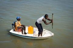 La gente a BANJUL, GAMBIA Fotografie Stock