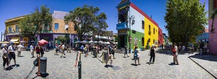 La gente in Boca, Argentina Fotografie Stock