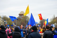 La gente a Bucarest, Romania Fotografia Stock Libera da Diritti
