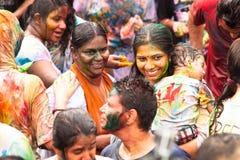 Festival de Holi de colores Fotografía de archivo