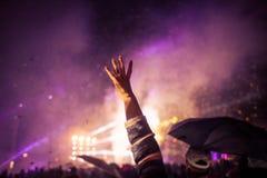 La gente celebra il ` s EVE del nuovo anno Immagine Stock Libera da Diritti