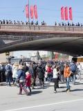 La gente celebra a Victory Day el 9 de mayo Fotografía de archivo