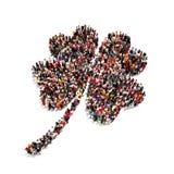 La gente che è irlandese, celebrando il giorno di St Patrick, o concetto fortunato Fotografia Stock