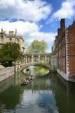 La gente che calcia sul fiume della camma, Cambridge, Regno Unito Fotografia Stock