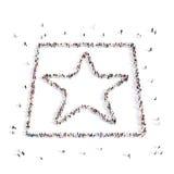 La gente che cammina in stella, ricompensa rappresentazione 3d Fotografie Stock Libere da Diritti