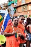 La gente che celebra gay pride in Spagna Fotografie Stock Libere da Diritti