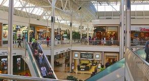 La gente che gode di un giorno di acquisto al centro commerciale di Hulen Immagini Stock Libere da Diritti