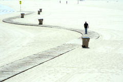 La gente che gode di un giorno soleggiato sulla spiaggia di Venezia, California Immagine Stock