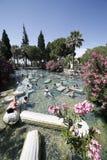 La gente che ha bagno nello stagno termico di Cleopatra di Hierapolis Immagine Stock Libera da Diritti