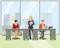 La gente che lavora nell'ufficio royalty illustrazione gratis