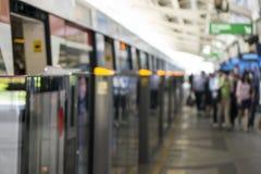 La gente che parte dal treno Immagine Stock Libera da Diritti