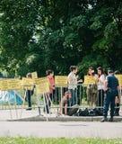 La gente che protesta la CEDU del Corte europea dei diritti dell'uomo durante Fotografia Stock