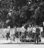 La gente che protesta la CEDU del Corte europea dei diritti dell'uomo durante Immagine Stock