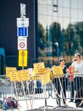 La gente che protesta la CEDU del Corte europea dei diritti dell'uomo durante Immagini Stock