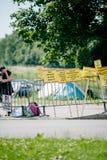La gente che protesta la CEDU del Corte europea dei diritti dell'uomo durante Fotografie Stock