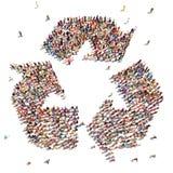 La gente che ricicla Fotografie Stock Libere da Diritti