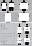 La gente che tiene i modelli in bianco del manifesto, insieme di vettore royalty illustrazione gratis
