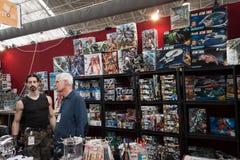 La gente che visita convenzione di Festival del Fumetto a Milano, Italia Fotografie Stock Libere da Diritti
