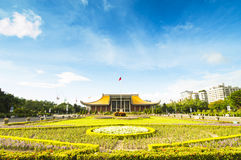 La gente che visita il tempio di Sun Yat-sen del tempio Fotografia Stock Libera da Diritti