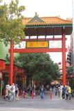 La gente in Chinatown in Adelaide Australia Immagine Stock