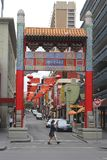 La gente in Chinatown a Melbourne Australia Fotografie Stock Libere da Diritti