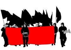 La gente cinque di anarchia Fotografie Stock Libere da Diritti