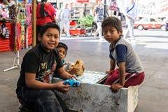 La gente in CITTÀ DEL MESSICO Fotografia Stock