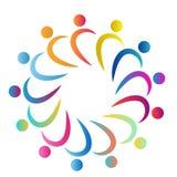 La gente combina el trabajo sano del símbolo del círculo de la gente de la gente colorida de la unión del trabajo junto junto log libre illustration
