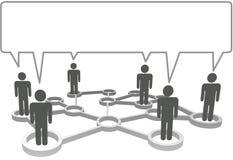 La gente comunica el bubb del discurso de la red del asunto