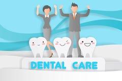 La gente con cure odontoiatriche Fotografia Stock
