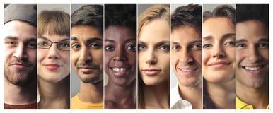 La gente con differenti espressioni Fotografia Stock Libera da Diritti