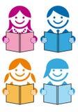 La gente con i libri,   royalty illustrazione gratis