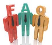pensando alle domande frequentemente fatte FAQ Fotografia Stock Libera da Diritti