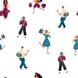 La gente con i sacchetti royalty illustrazione gratis