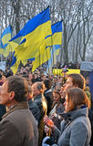La gente con la candela in mani, Fotografia Stock Libera da Diritti