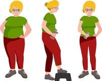 La gente con la massa differente del corpo Fotografie Stock
