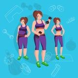 La gente con la massa differente del corpo Fotografia Stock
