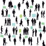 La gente con le bolle di conversazione Fotografie Stock Libere da Diritti