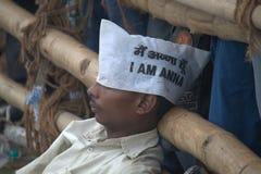 La gente contro corruzione Fotografie Stock