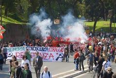 La gente contro fascismo Fotografie Stock Libere da Diritti