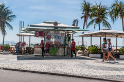 La gente a Copacabana Immagine Stock Libera da Diritti