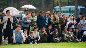 La gente in COREA DEL NORD Fotografia Stock