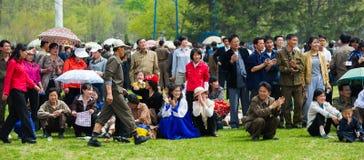 La gente in COREA DEL NORD Fotografia Stock Libera da Diritti