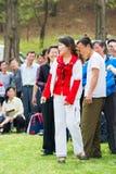 La gente in COREA DEL NORD Fotografie Stock Libere da Diritti
